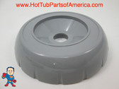 """Spa Hot Tub Diverter Cap 3 3/4"""" Wide Gray Notched Buttress Style How To Video"""