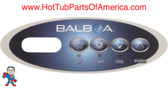 Overlay Balboa Topside 4 Button Spa Hot Tub #12 11852 Mini Oval Generic MAS260