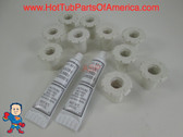 "10X Spa Hot Tub 1 1/4"" Air Jet Face Fitting 3/4"" Thread Injector Part & Silicone"
