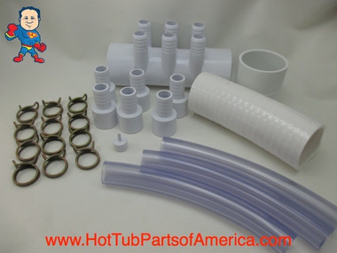 "RENU Manifold Hot Tub Spa Old To New Style 2""spg x (6)3/4"" Coupler Kit Video How To"