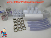 """RENU Manifold Hot Tub Spa Old To New Style 2""""spg x (6)3/4"""" Coupler Glue Kit Video How To"""