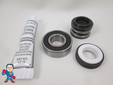 Spa Hot Tub Pump Seal & (1) Bearing Kit for 2.5HP Pump that fits May 2009+ Jacuzzi®  Premium or Sundance® Video How To