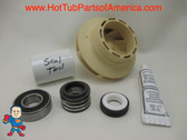 "Impeller, Seal (1) Bearing Kit LX Guangdong 48 frame 1HP 2 3/8"" Eye Vane Width 1/4"" 3 3/4"" OD How To Video"