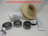 "Impeller, Seal (2) Bearing Kit LX Guangdong 48 frame 1.5HP 2 3/8"" Eye Vane Width 5/16"" 4"" OD How To Video"