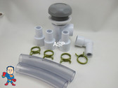 Hot Tub Spa Part Gray Waterfall Valve RENU Kit with (3) Straight (1) 90 Barbs Video How To