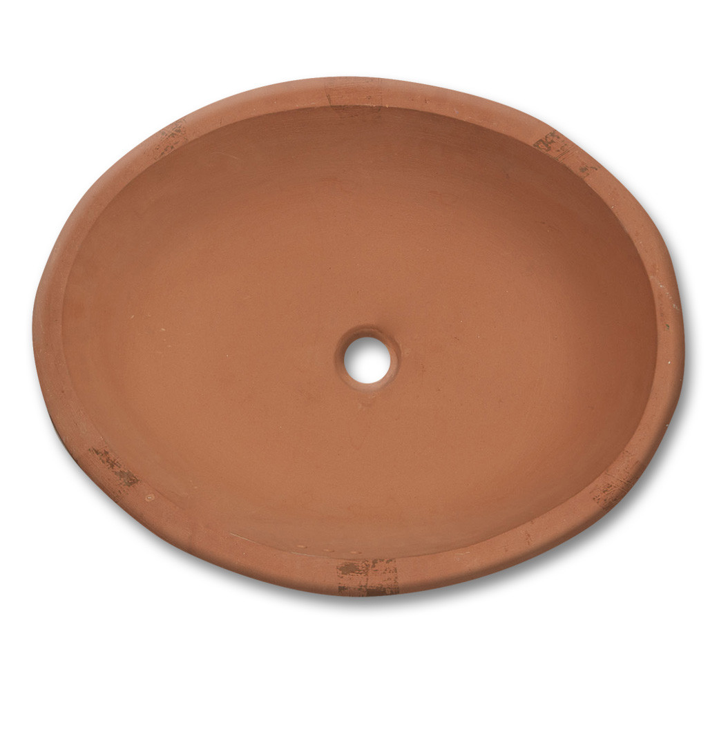 TBSLO   Large Oval Sink Terracotta