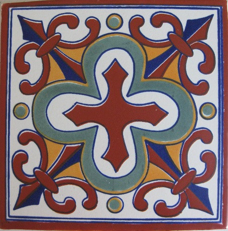 Mexican decorative white bisque tile with matte finish.  Due to the nature of this product, they may be irregular in shape, size, dimension, texture, and color.  Minor chipping and crazing are inherent in this product.