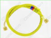 """Yellow Jacket 22072 72"""" Yellow 1/4"""" hose W/SealRight fitting"""