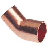 W03044 1 1/8 OD ACR Copper Fitting 45° Elbow CxC