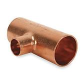 "2"" x 2 1/8"" Wrot Copper Reducing Tee CxCxC"
