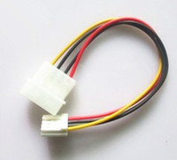 "4 Pin Molex To 3.5"" Floppy Drive FDD Internal Power Cable 7"" (Free Shipping"