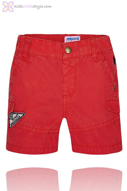 Baby Boy Bermuda Shorts in Red
