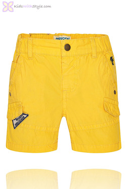 Baby Boy Bermuda Shorts in Yellow