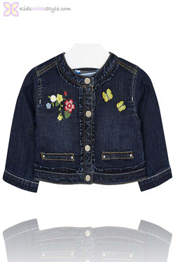 Baby Girl Denim Jacket Classic Wash