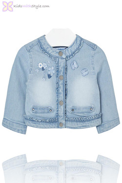 Baby Girl Denim Jacket Light Wash