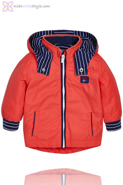 Baby Boy Nautical Windbreaker in Red