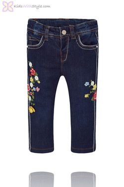 Baby Girl Denim Jeans in Dark Wash
