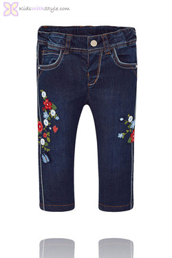 Baby Girl Denim Jeans in Classic Wash