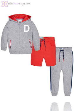 Baby Boy 3 Piece Tracksuit in Grey