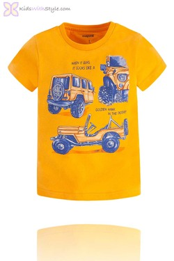 Boys Graphic Jeep T-Shirt in Yellow