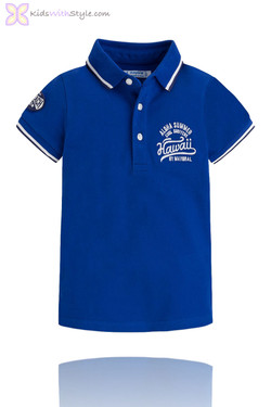 "Boys ""Aloha"" Long Beach Polo in Royal Blue"