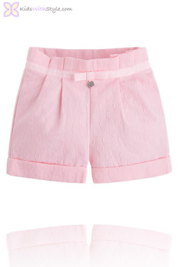 Girls Luxury Jacquard Shorts in Pink