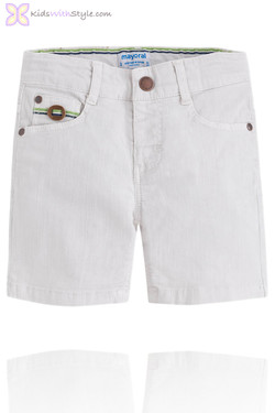 Boys Smart Chino Shorts in White