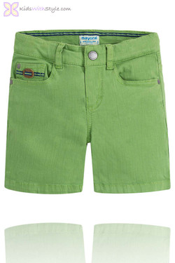 Boys Smart Chino Shorts in Green