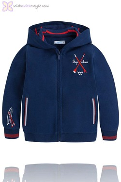 Boys Hooded Watersports Pullover in Navy