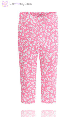 Girls Leggings with Pink Floral Print