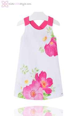 Girls Floral Poppy Sun Dress in Pink