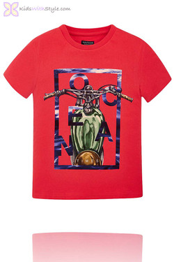 Boys Graphic Koi Fish T.Shirt in Red