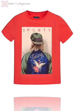 Boys Graphic Sport T.Shirt in Red