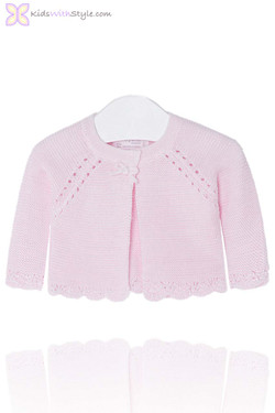 Baby Girl Knitted Cardigan in Pink