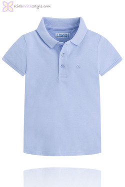 Classic Light Blue Short Sleeve Polo Shirt