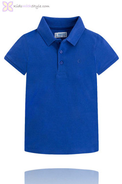 Classic Blue Short Sleeve Polo Shirt