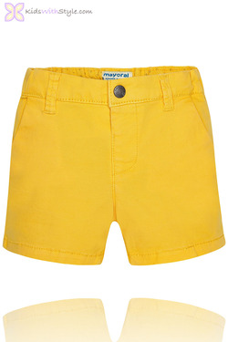 Baby Boy Chino Bermuda Shorts in Yellow