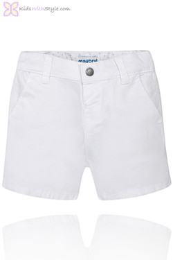 Baby Boy Chino Bermuda Shorts in White
