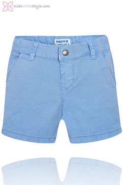 Baby Boy Chino Bermuda Shorts in Blue