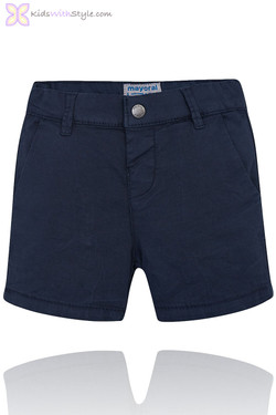 Baby Boy Chino Bermuda Shorts in Navy