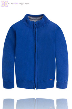 Boys Classic Blue Sweater Jacket