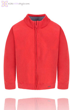 Boys Classic Red Sweater Jacket