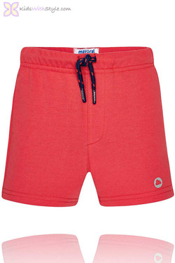 Baby Boy Classic Summer Shorts in Red