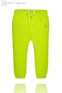 Baby Boy Classic Jogger Pants in Lime Green