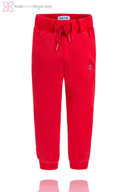 Boys Classic Jogger Pants in Red