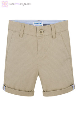Boys Chino Shorts in Beige
