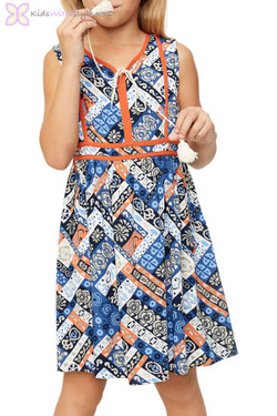Blue Indie Print Dress