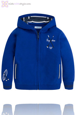 Boys Hooded Watersports Pullover in Blue