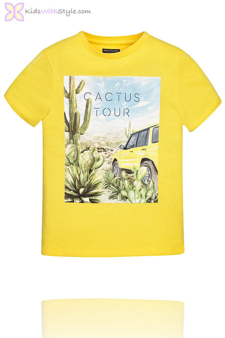 Boys Graphic Cactus Graphic T-Shirt in Yellow