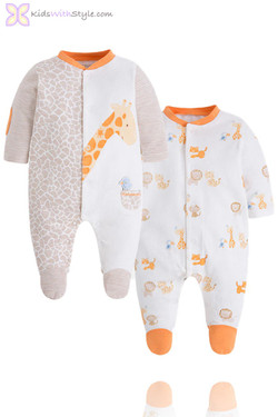 Baby Boy Luxury 2 Piece Giraffe Onesie Set